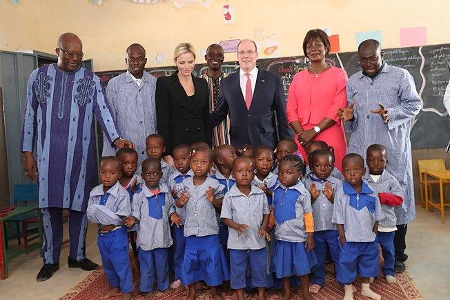 Albert et Charlène - suite visite au Burkina Faso