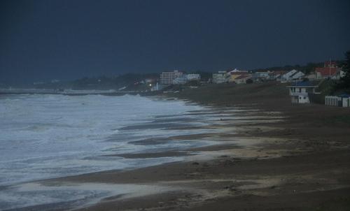 La plage de Tharon hier...Quel spectacle...Presque méconnaissable...