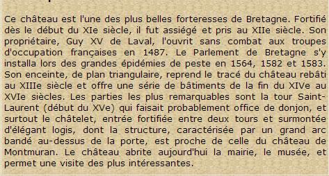 """"""""""" LA VILLE DE FOUGERES..!! & LA  VILLE de VITRé..!!"""""""""""" (35 I&V)"""