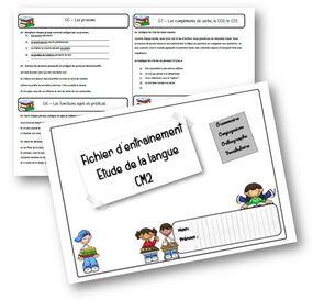 Fichier de leçons de français CM2 - programmes 2016