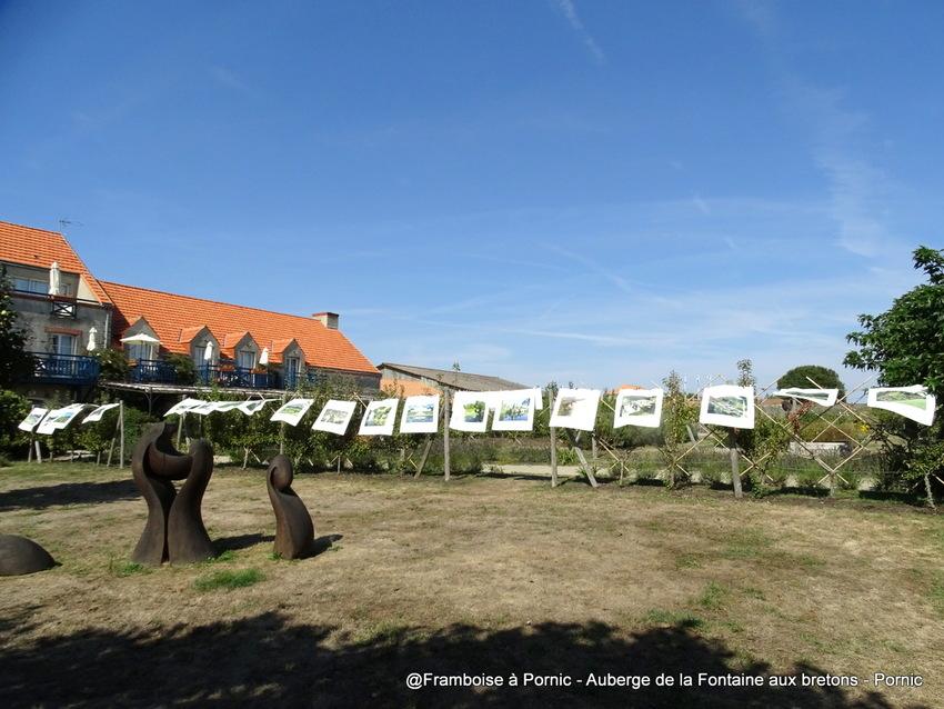 Expo à L'Auberge de la Fontaine aux bretons - septembre 2018