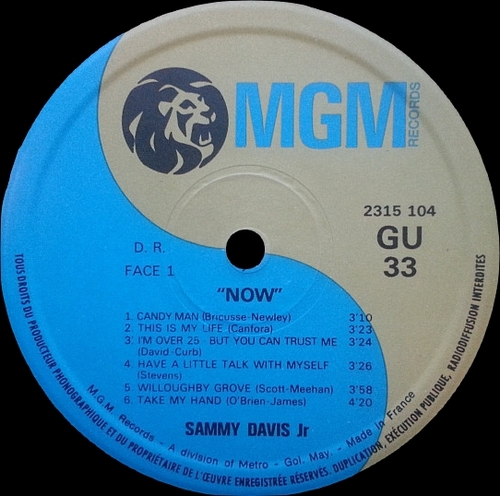 "Special Disc Jockey : Sammy Davis Jr. : Album "" Now / "" John Shaft "" MGM Records 2315 104 [ FR ]"
