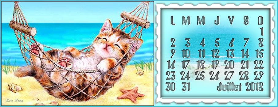 calendriers Juillet