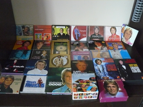 Claude françois collection cd, coffret,livre, magazine, etc... photo fait par moi