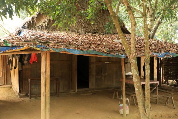 Nos chambres dans les maisons des minorités du nord Laos