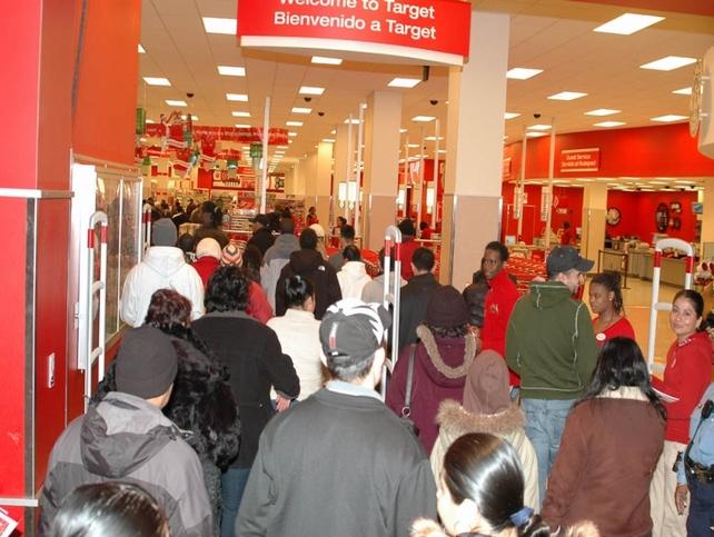 Black Friday dans un centre commercial aux États-Unis en 2008