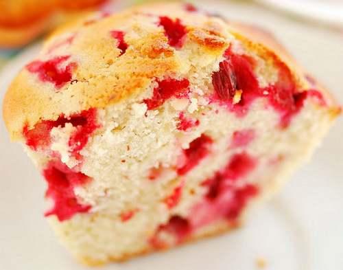 Recette de cuisine : Muffins aux airelles rouges