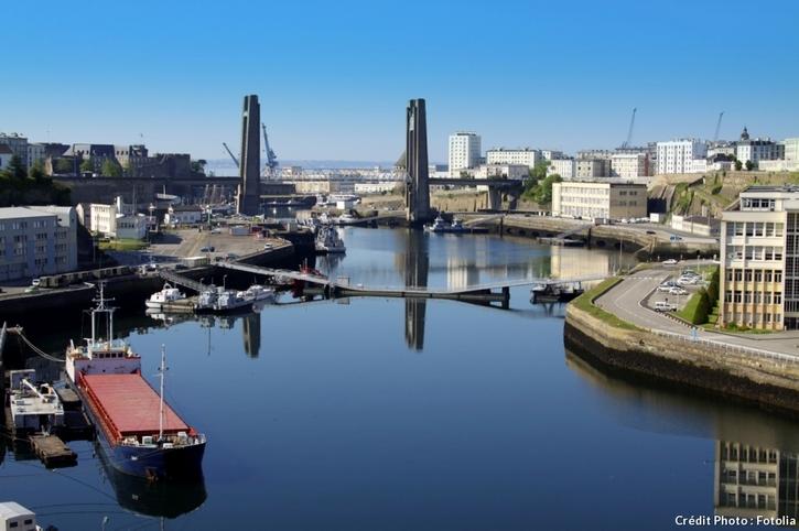 Le pont de Recouvrance à Brest