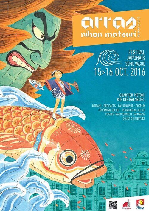 3ème Arras Nihon Matsuri ou la culture japonaise fait son festival ce week-end.