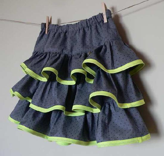 Couture: jupe à volants pour enfant