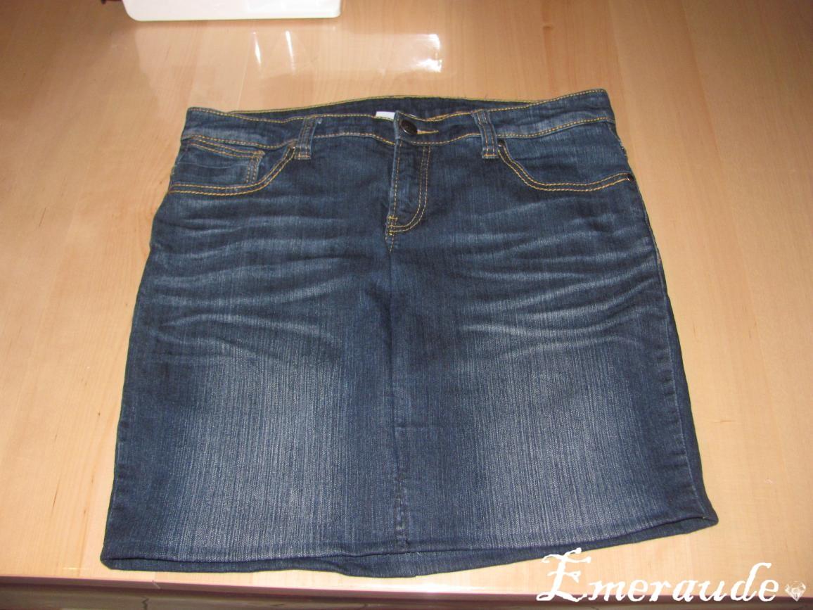 Couture: Jupe courte à partir d'un vieux jeans