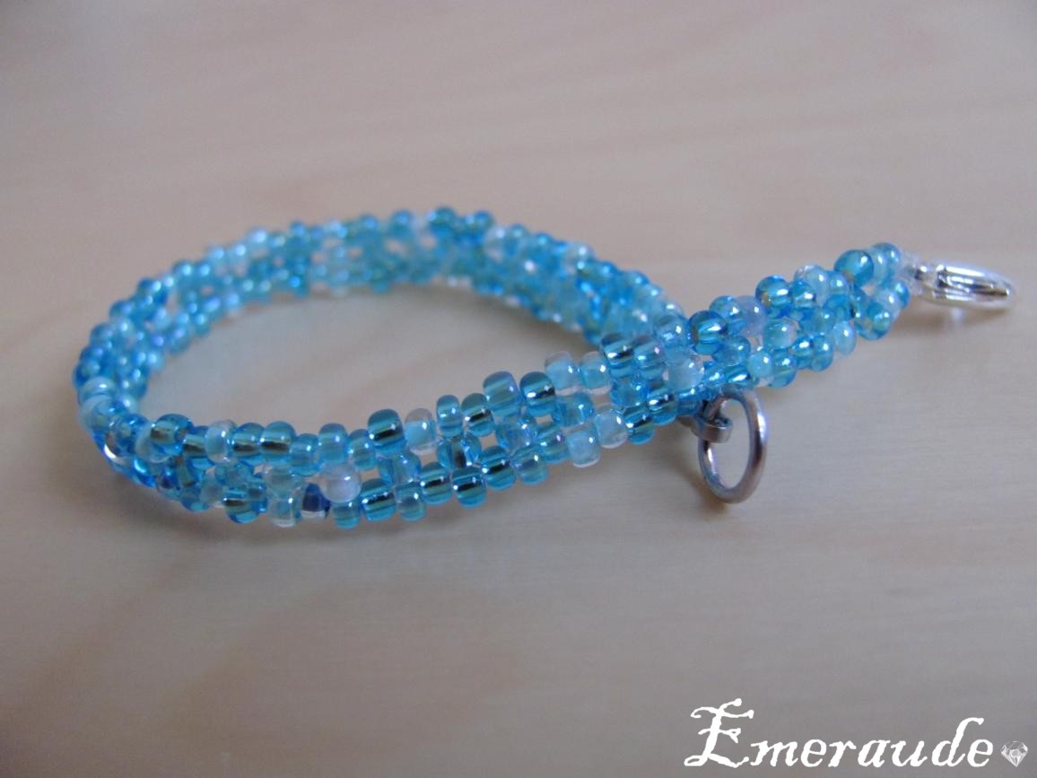 Bijoux en perles: un bracelet en tissage simple