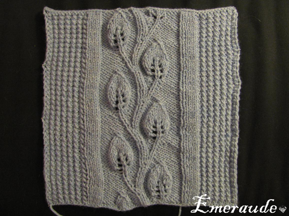 Kal tricot: plaid irlandais, carré n°3