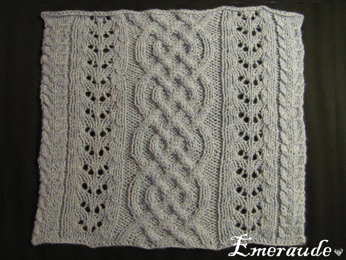 Kal tricot: plaid irlandais, carré n°5