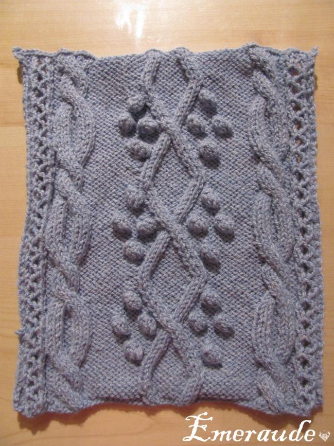 Kal tricot: plaid irlandais, carré n°2