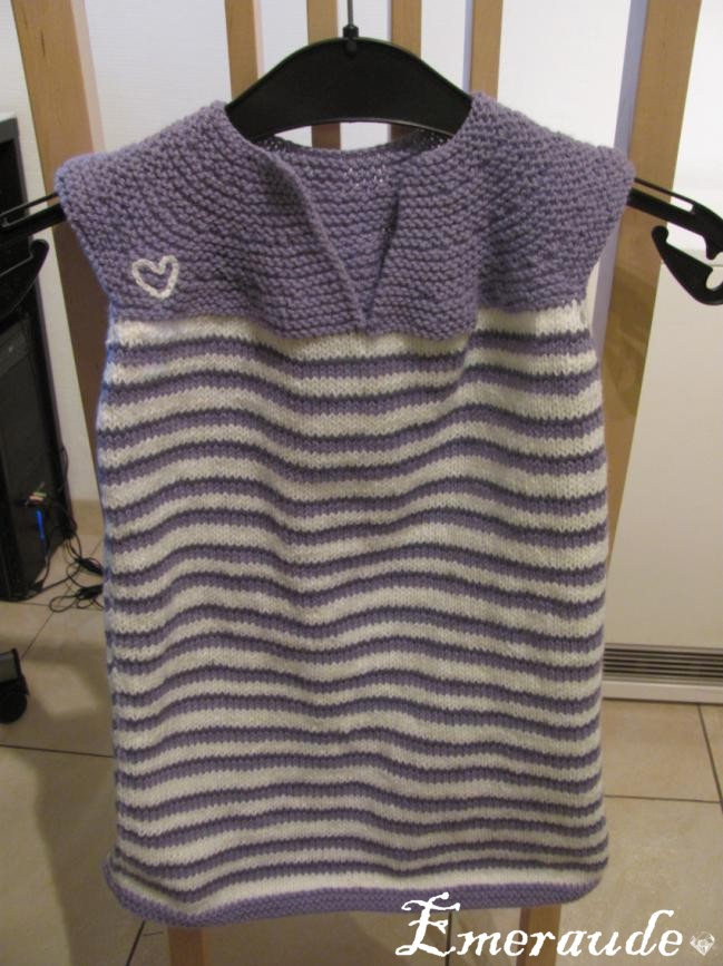 Tricot: robe col cléopatre (taille 2ans)