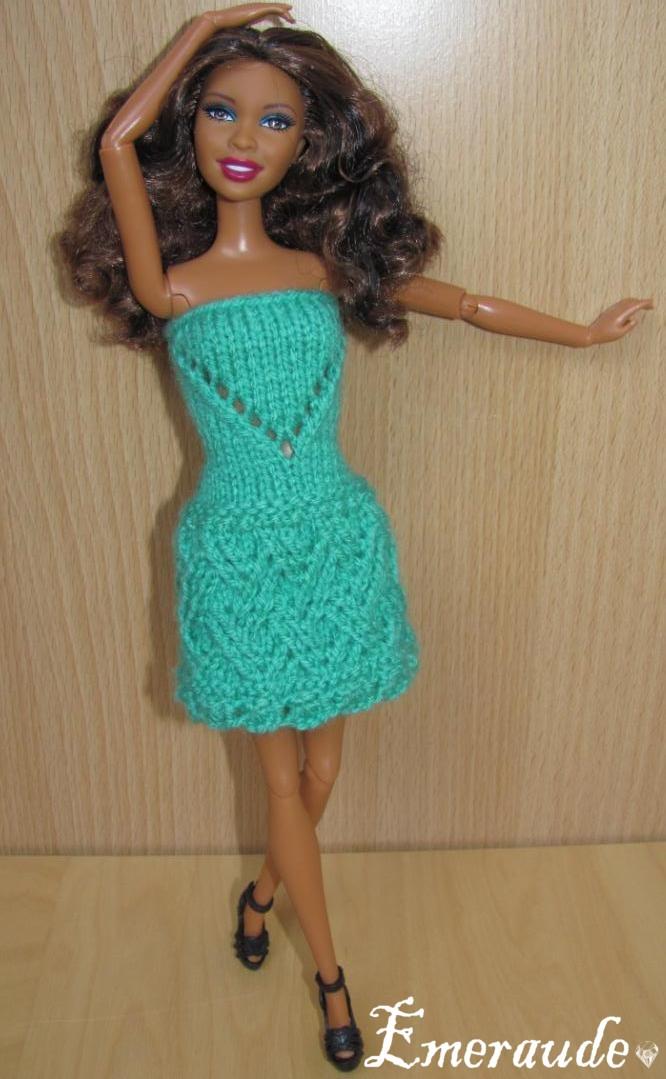Tricot Barbie: Robe d'été n°18