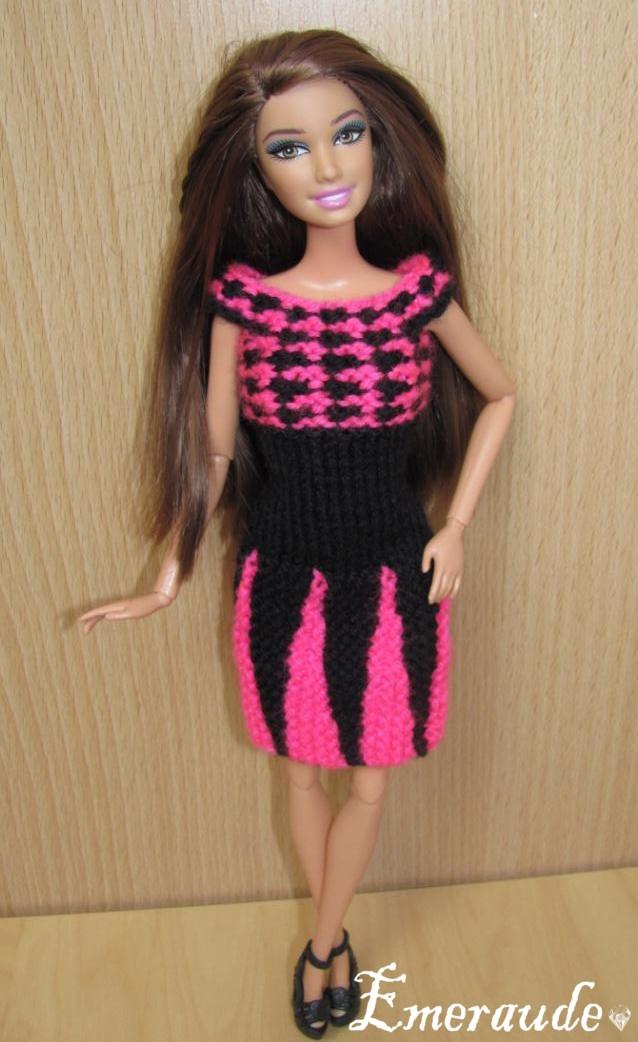 Tricot Barbie: Robe d'été n°19