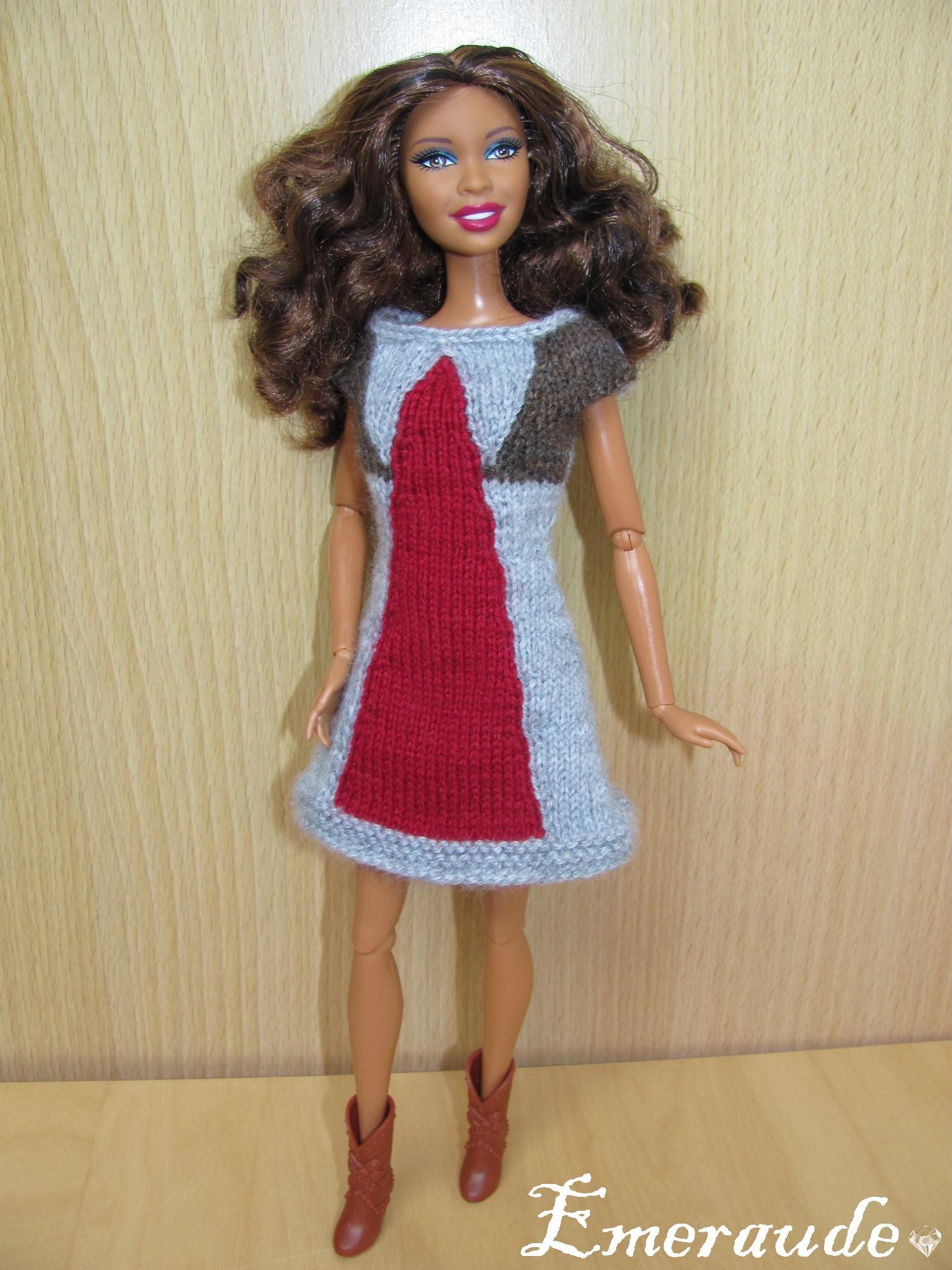 Tricot Barbie: Robe d'été n°20