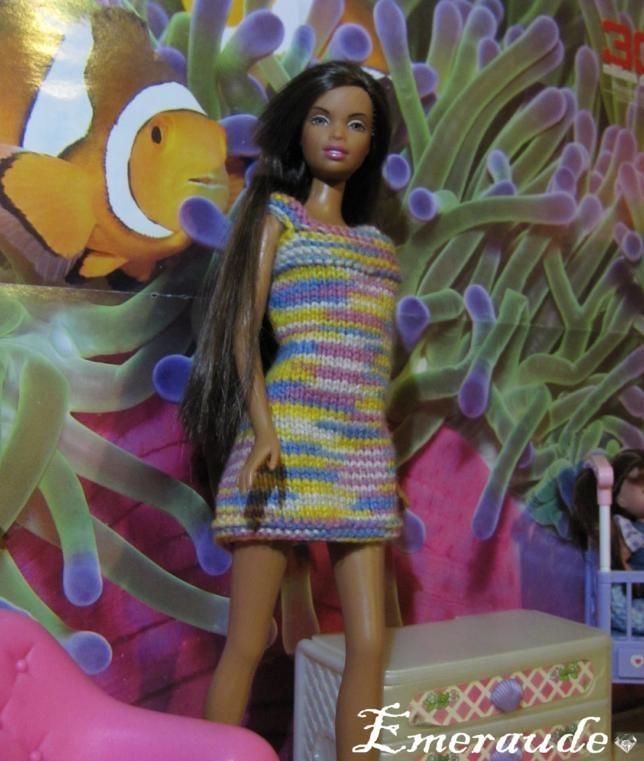 Tricot: Robe d'été n°1 pour Barbie