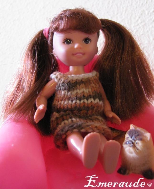 Tricot: Robe d'été n°2 pour Evi et Shelly, les petites soeurs