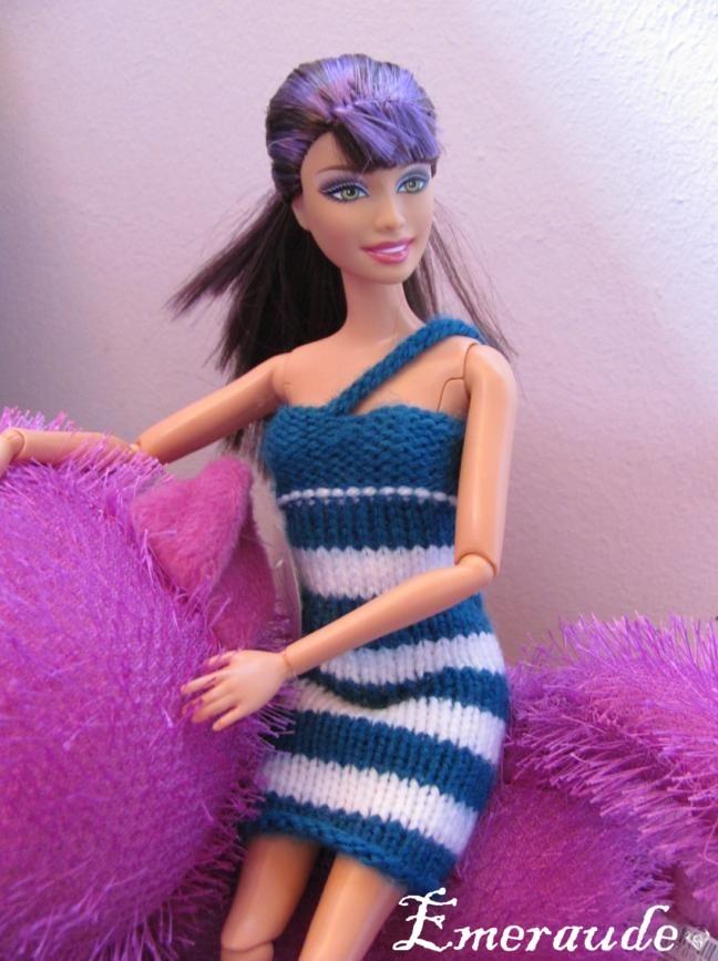 Tricot: Robe d'été n°4 pour Barbie