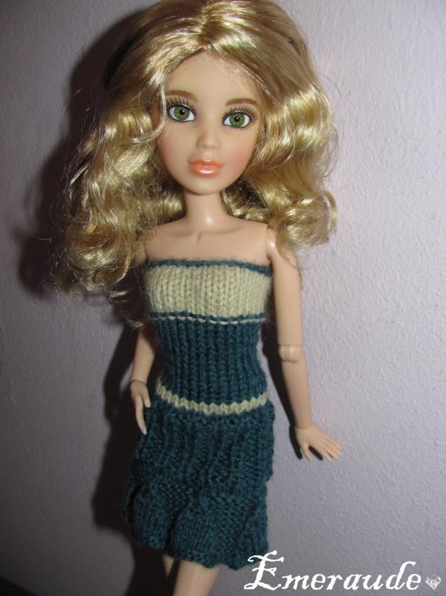 Tricot: Robe d'été n°10 pour Barbie ou LIV