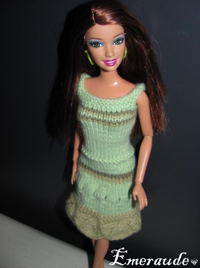Tricot: Robe d'été n°12 pour Barbie