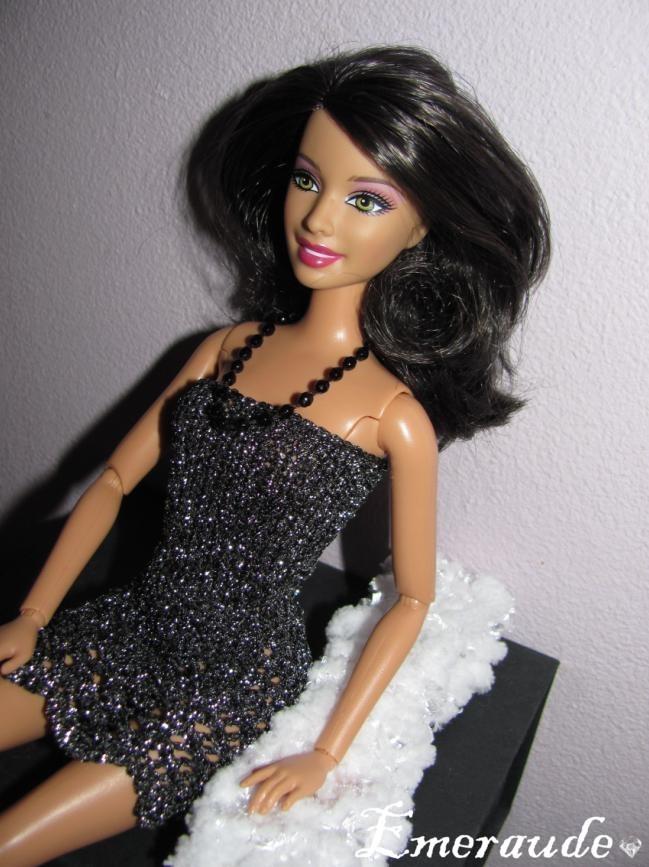 Tricot: Pour la nuit n°1 nuisette pour Barbie