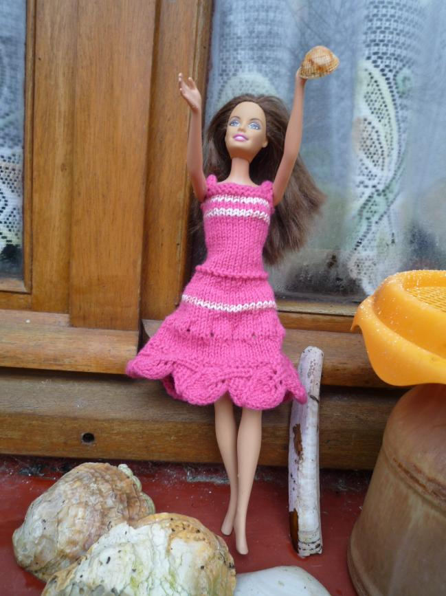 Tricot Barbie: Robe d'été n°12 par les copinautes (2)