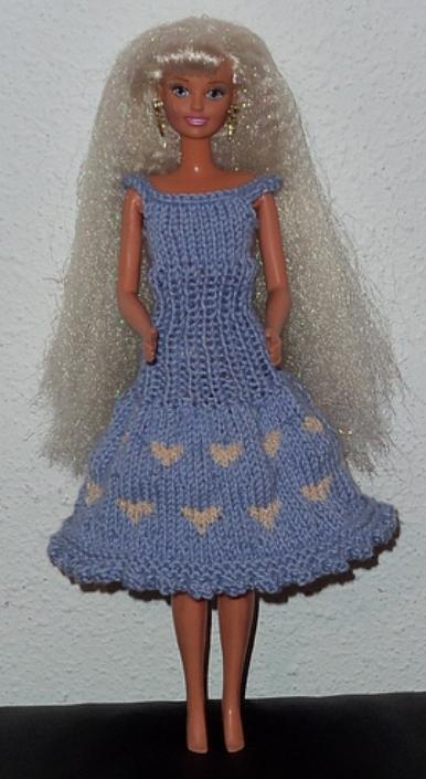 Tricot Barbie: tenue de Saint-Valentin n°1 par les copinautes