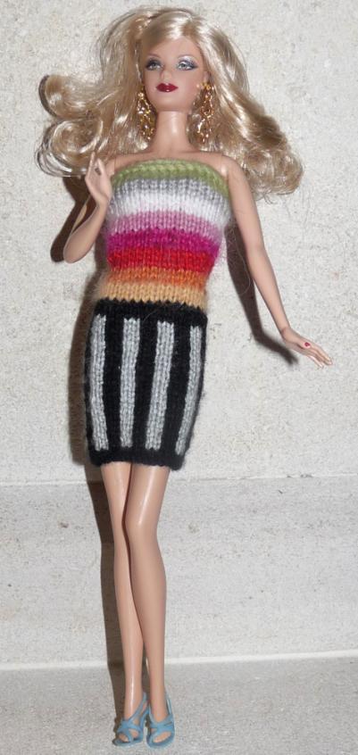 Tricot Barbie: Robe d'été n°14 par les copinautes
