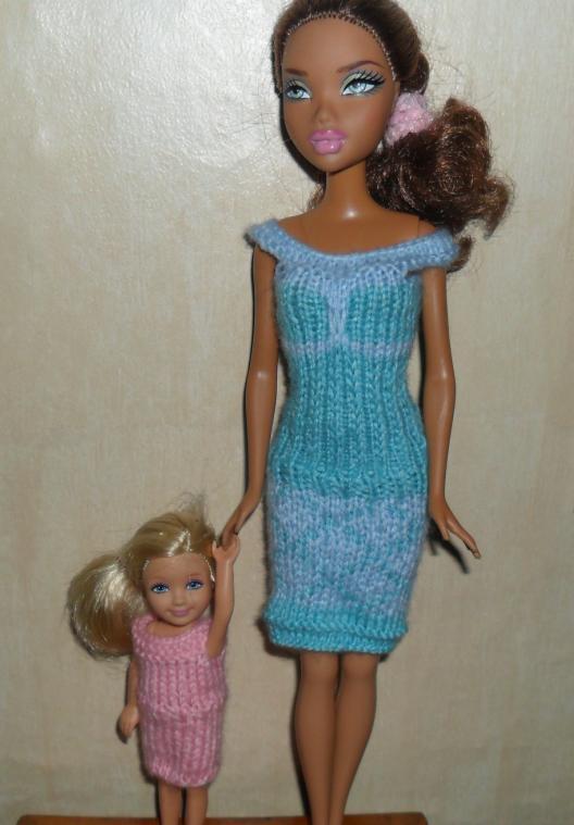 Tricot Barbie: Robe d'été n°7 par les copinautes