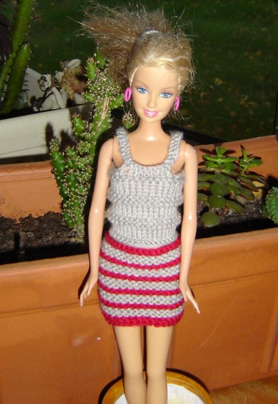 Tricot Barbie: Ensemble n°1 par les copinautes