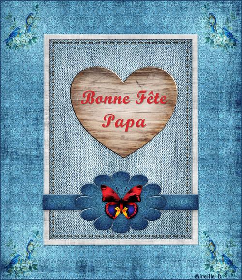 Bonne Fête aux Papas (Carte montage)