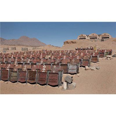 Un cinéma abandonné dans le désert égyptien