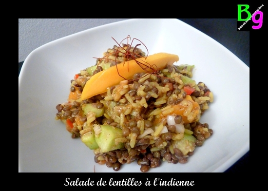 salade de lentilles à l'indienne