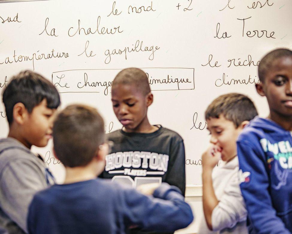 Sensibilisation au changement climatique. Ecole Bel Air (Classe de CM2 ) à Torcy, en Seine-et-Marne