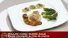 poulpe farci sucré salé, sauce citronnée au foie de morue et légumes de saison