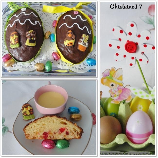 """Gâteaux """"Oeufs de Pâques"""" au yaourt et fruits confits"""