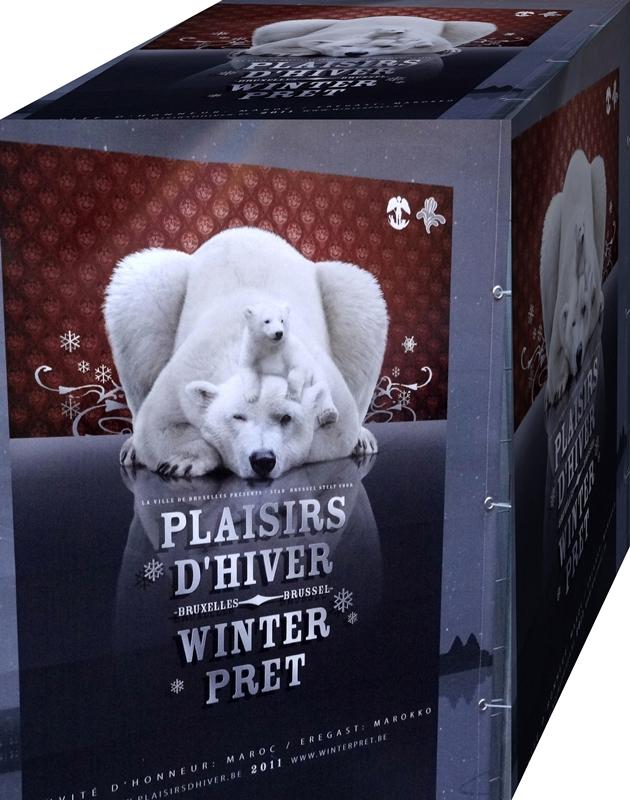 Bruxelles, ce soir...Plaisirs d'hiver, c'est reparti jusqu'au 06 Janvier 2012 ;-)