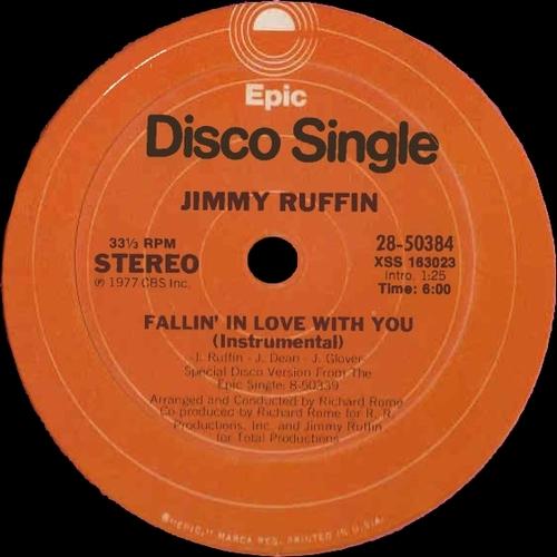 """Jimmy Ruffin : Album """" Sunrise """" RSO Records RS-1-3078 [ US ]"""