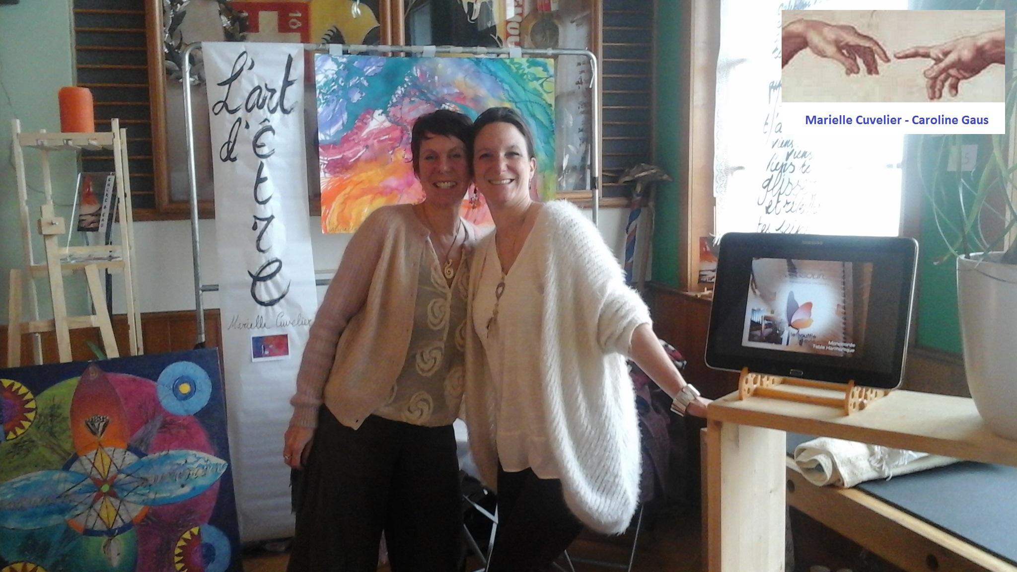 Marielle Cuvelier et Caroline Gaus - Salon bien-être Le Mouret 2016