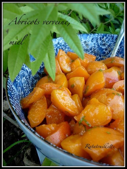 Abricots verveine, miel