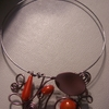 collier choco/orange 14euros
