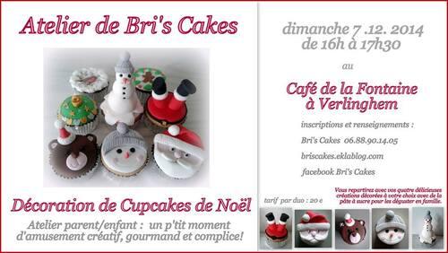 Atelier Parent/Enfant déco Cupcakes de Noël