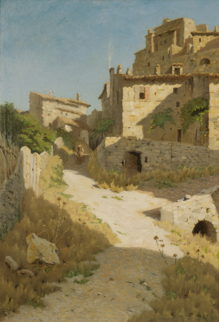 """Vieux village"" - Marius Breuil"