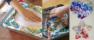 Loisirs : Peinture à la mousse à raser