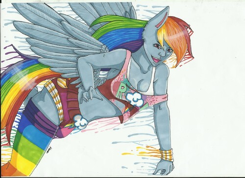 Human Rainbow Dash (Promarkers)