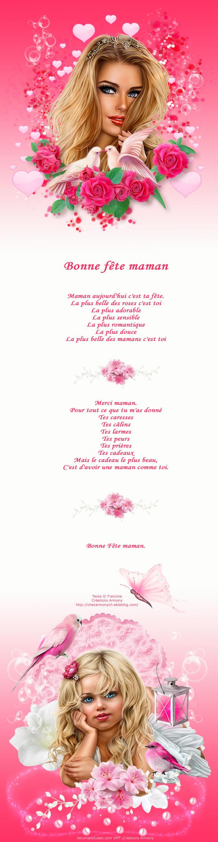 Poème Bonne Fête Maman